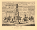 CHEAPSIDE CROSS in 1547. Coronation procession of King Edward VI. London 1834